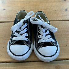 Converse Toddler Chuck Taylor Shoes Black Low Tops Boys Girls Unisex Size 5 US