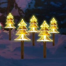 5PCS XMAS CHRISTMAS TREE PATHWAY LIGHTS STAKE OUTDOOR GARDEN LED LIGHTS DECOR