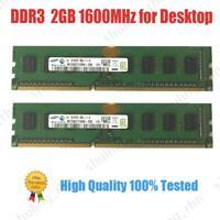 DDR3 240PIN DESKTOP Memory Chip Bank PC3-12800 1.5V Dimm RAM For Samsung Lot