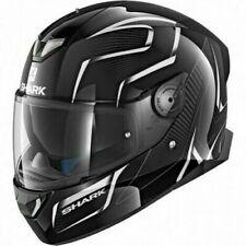 SHARK SKWAL 2 Luces LED Flynn Kwa Motocicleta Casco Cara Completa-Negro/Blanco