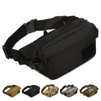 Men Nylon Hip Bum Belt Bag Hiking Military Sports Sling Chest Waist Fanny Pack