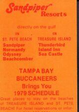 1979 Tampa Bay Buccaneers Football Schedule jhxb