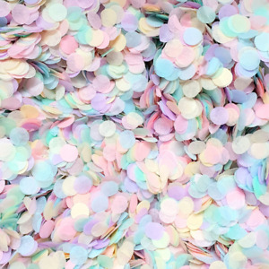 Pastel Rainbow Confetti Biodegradable Wedding Confetti Party Table Confetti Mix