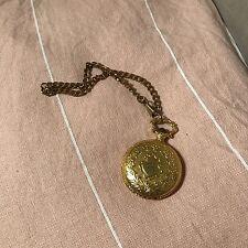 Vintage Pocket Watch Gold Cb Monogram Initials Chain