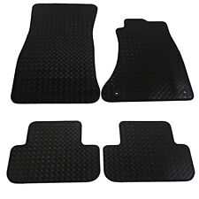Audi A4 2008-2015 Fully Tailored 4 Piece Rubber Car Mat Set with 2 Clips