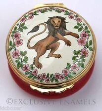 Halcyon Days Enamels The Lion Of England Enamel Box