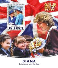 Djibouti 2016 MNH Princess Diana 1v S/S Queen Elizabeth II Royalty Stamps