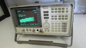 Agilent HP 8563A Spectrum Analyzer 9 kHz to 26.5 GHz, READ