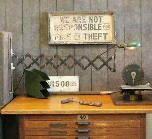 Vtg Antique Industrial Copper Flash Scissor Wall Mount Lamp Light Factory Sconce