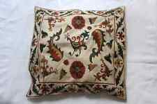 Handmade traditional Turkish silk embroidered cushion cover, farm design, 35x40