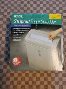 Royal JS800 8 Sheet Stripcut Paper Shredder