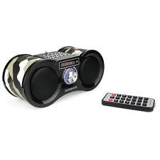 Stereo FM Radio USB / TF Card Speaker MP3 Music Player with Remote Control Camo
