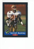 TERRELL BUCKLEY Autographed Signed 1992 card FSU Florida State Seminoles COA