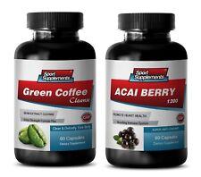 fat burner capsules - GREEN COFFEE CLEANSE – ACAI BERRY COMBO 2B - green coffee