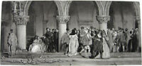 Venice, MASKED CARNIVAL MASQUERADE PARTY DOGES DUCAL PALACE ~ Old 1886 Art Print