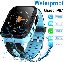 Waterproof Smartwatch Phone for KIDS / Sim Card slot Camera Games Text Call GPS