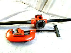 "RIDGID MODEL 31-A .3 WAY PIPE THREADER PLUS A 1/8"" TO 2 "" PIPE CUTTER"