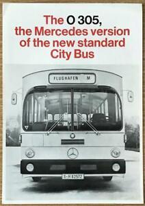 MERCEDES BENZ O 305 CITY BUS Sales Brochure Undated