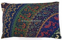 Mandala Ethnique Coton Indien Taie Oreiller Coussin Housse Boho Décor