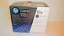 GENUINE HP Q7551XD DUAL PACK TONER CARTRIDGES 51X