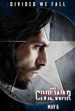 Captain America Civil War Movie Poster (24x36)-Sebastian Stan, Winter Soldier v5