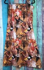 Vtg Womens Sz Small Maxi Long Skirt Victorian Paris Bicycle Novelty Print