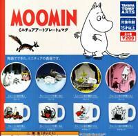 MOOMIN MUG & PLATE 2019 Miniature Art coplete (8pcs) set From Japan F/S