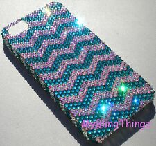 12ss ZIG ZAG Crystal Rhinestone Back Case for iPhone 5 5S w/ Swarovski Elements