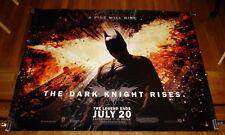 THE DARK KNIGHT RISES BATMAN Christian Bale 5FT subway MOVIE POSTER 2012