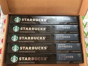 Starbucks Nespresso Espresso Roast Coffee 50 Pods