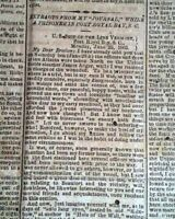 Rare CONFEDERATE Charleston Mercury SC Civil War South Carolina 1864 Newspaper
