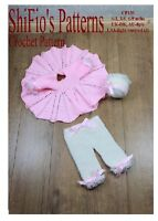 CROCHET PATTERN BABY GIRL DRESS, TROUSERS HAT 3 SIZES #130 NOT CLOTHES