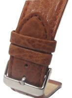 24mm Italian Genuine Leather Italy Brown Distressed Watch Band Strap