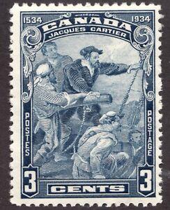 Sc# 208 - Canada - 1934 - 3c - Cartier - MNH F/VF - superfleas - cv$9