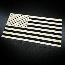 American Flag Inverted Tan - Sticker