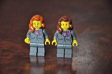 1 x LEGO Minifig Mini Figure Air Hostess Female Lady Stewardess Flight Attendant