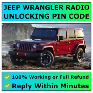 JEEP WRANGLER RADIO UNLOCKING PIN CODE DECODE ALL MODELS AVAILABLE   FAST ✅