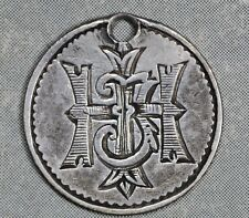 Love Token Engraved on 1881 Great Britain 3 Three Pence Silver - HIJ?