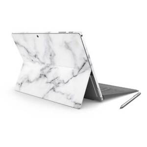 White Marble Sticker Wrap to Cover Surface Pro 7 Back + Sides Australian Made