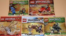5x LEGO NINJAGO! Jay, Kai, Dareth, Cole e Zane! tutti con molti accessori