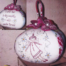 PATTERN - Garden Faerie - stitchery pincushion PATTERN - Annie Smith Design