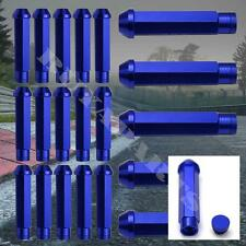 20X BLUE 95MM ALUMINUM EXTENDED TUNER LOCKING LUG NUT HONDA CIVIC DEL SOL CRX