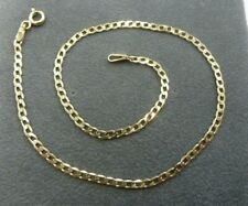 - 1.5 grams * Fully Hallmarked * 9ct Solid Gold Curb Anklet 25cm long