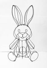 Lapin en fil de fer peluche sculpture 3D décoration sculpture rabbit in wire
