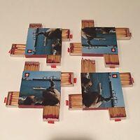 (4) Vintage Unused European Swiss 4 Slot Rare  Matchbook Super Rare. Fast Ship