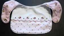 GUC Gymboree BERRY PRETTY Cotton BIB Pink/Ivory/Purple VINTAGE 2001 Reversible