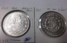1965 Mexico Large Silver 1 peso Morelos-Eagle/Snake-Nice