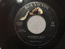 "ELVIS PRESLEY 7"" 45rpm HEARTBREAK HOTEL 447-0605 RECORDED 1956 Record Plays"