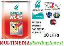 10 LITRI OLIO MOTORE ORIGINALE SELENIA DIGITEK P.E 0W30 C2 EURO 6 FIAT9.55535-GS