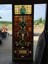"Ca 11 Antique Stain Glass Window 36"" X 8'"
